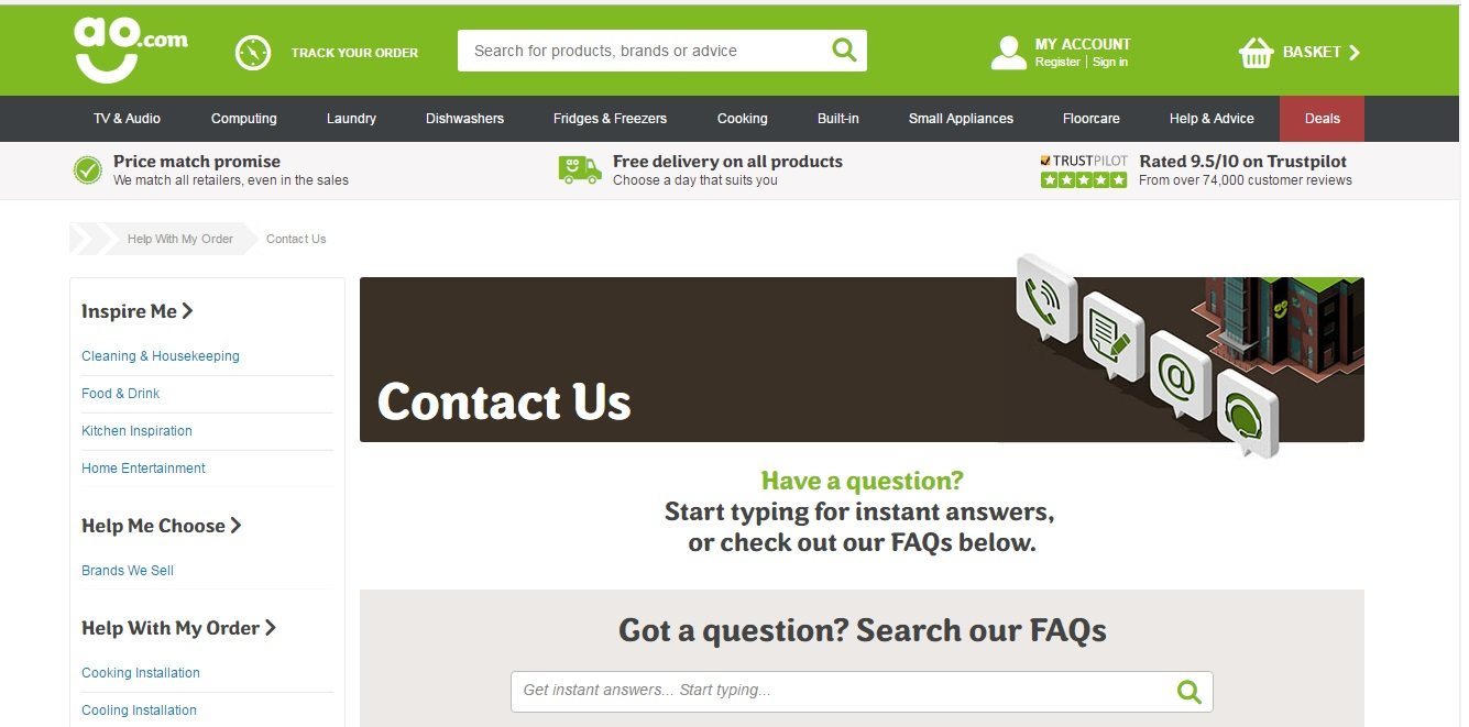 AO.com Customer Service number