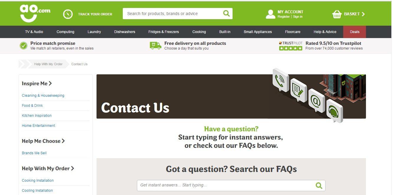AO.com Customer Service number