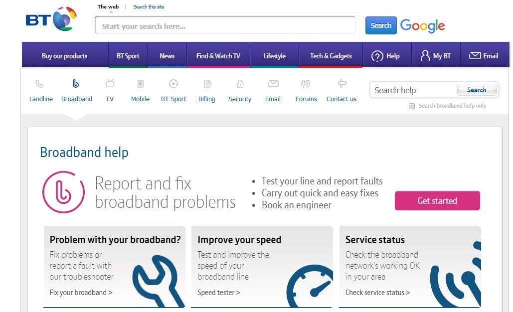 British Telecom Customer Service number