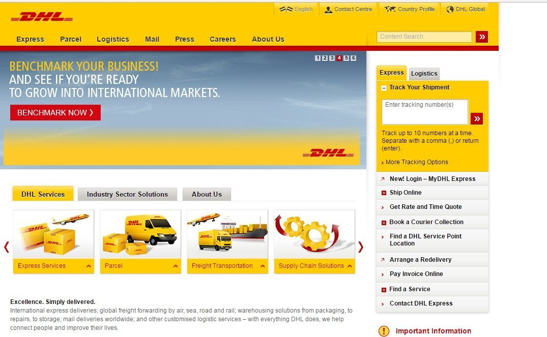DHL customer service number