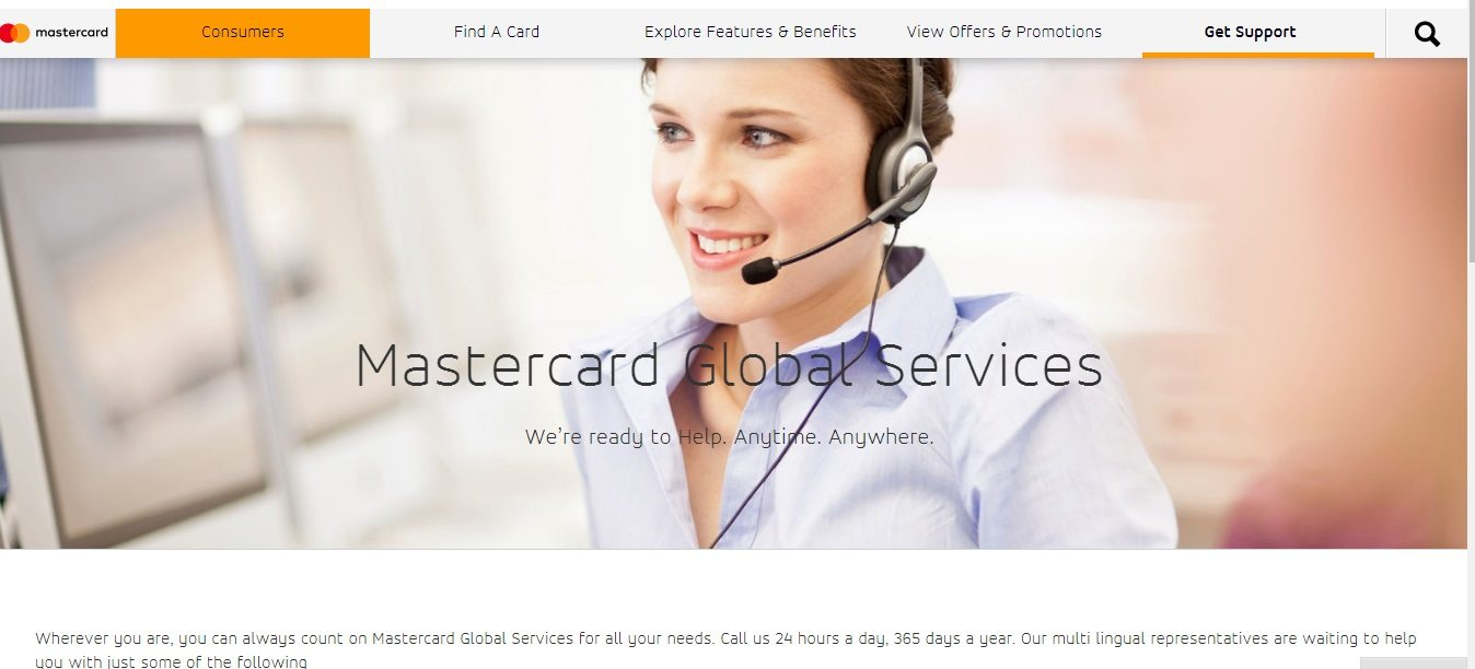 MasterCard Customer Service number