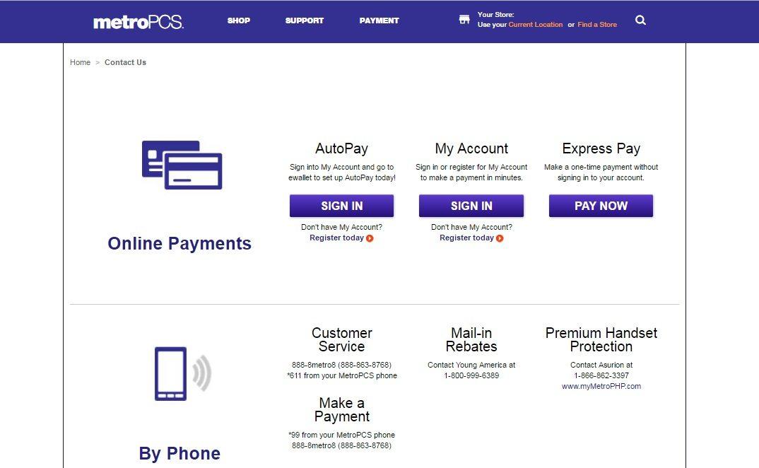 Metro PCS Customer Service number