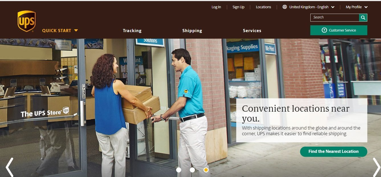 UPS tracking contact