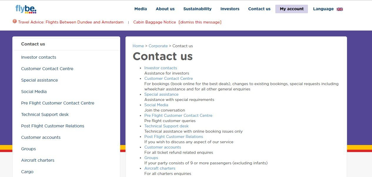 Flybe Customer Service