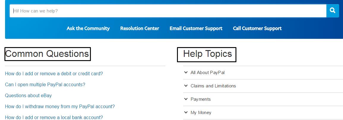 PayPal Helpline Numbers