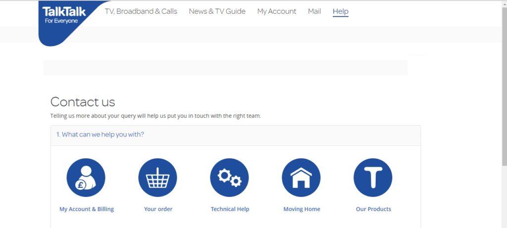 TalkTalk customer services
