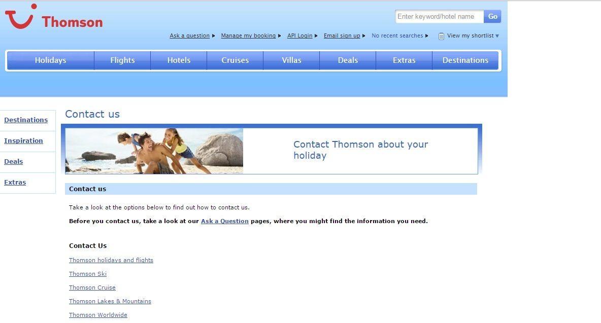 Thomson Customer Service